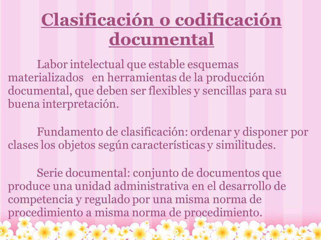 Clasificación o codificación documental