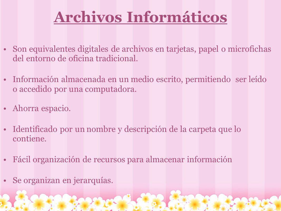 Archivos Informáticos