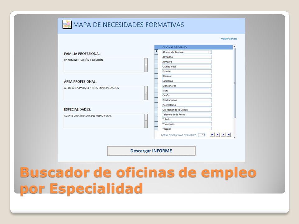Buscador de oficinas de empleo por Especialidad
