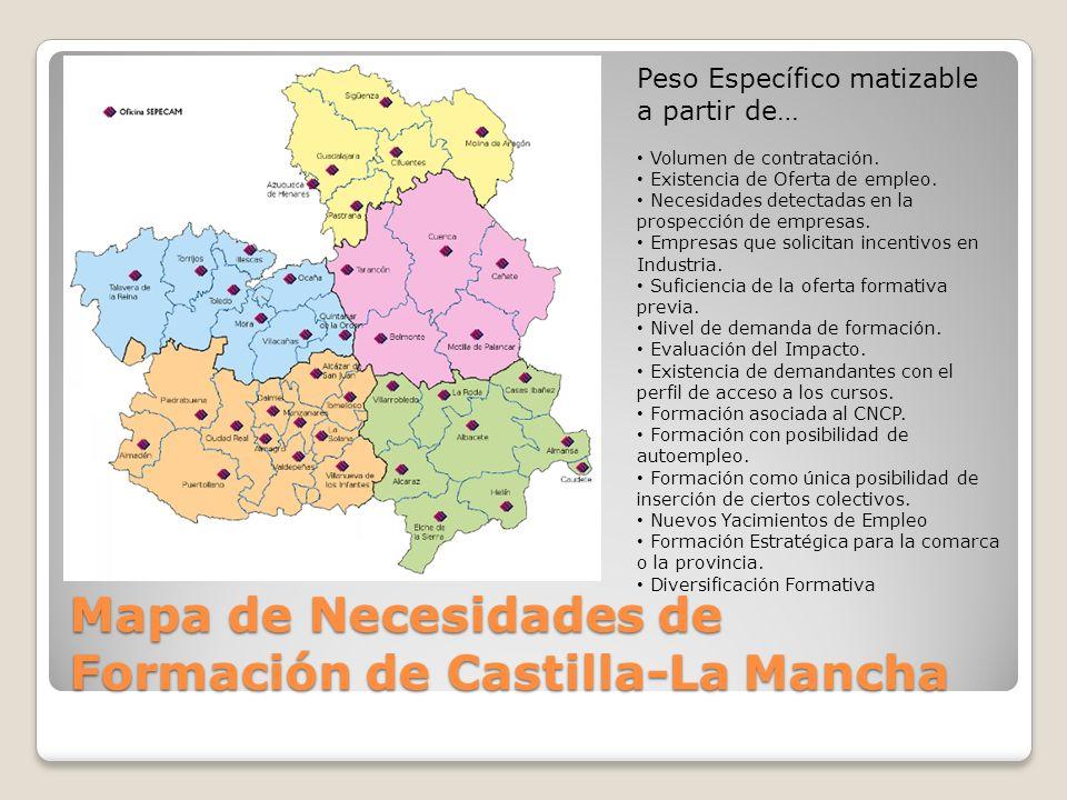 Mapa de Necesidades de Formación de Castilla-La Mancha