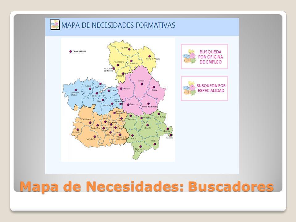 Mapa de Necesidades: Buscadores
