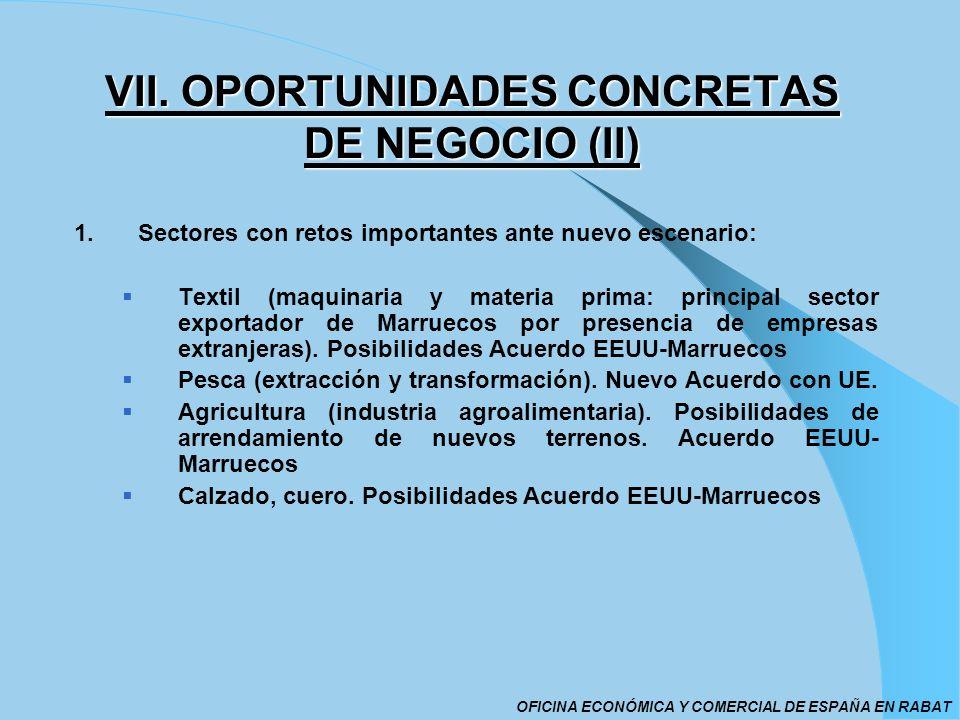 VII. OPORTUNIDADES CONCRETAS DE NEGOCIO (II)