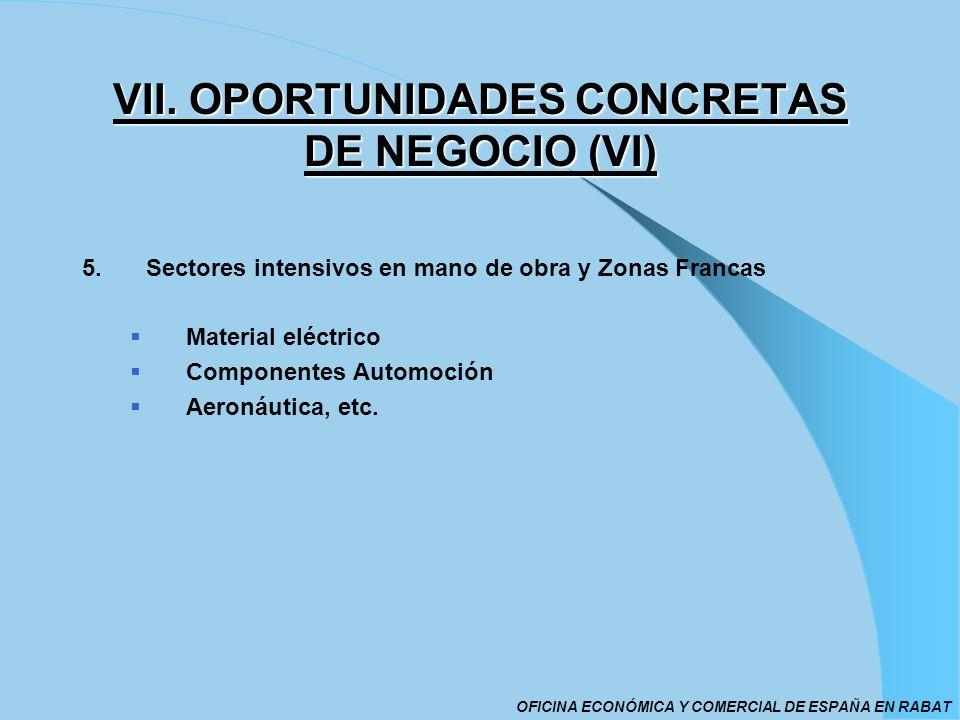 VII. OPORTUNIDADES CONCRETAS DE NEGOCIO (VI)