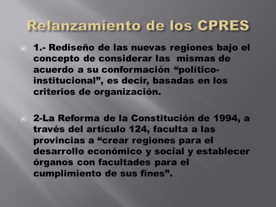 Relanzamiento de los CPRES
