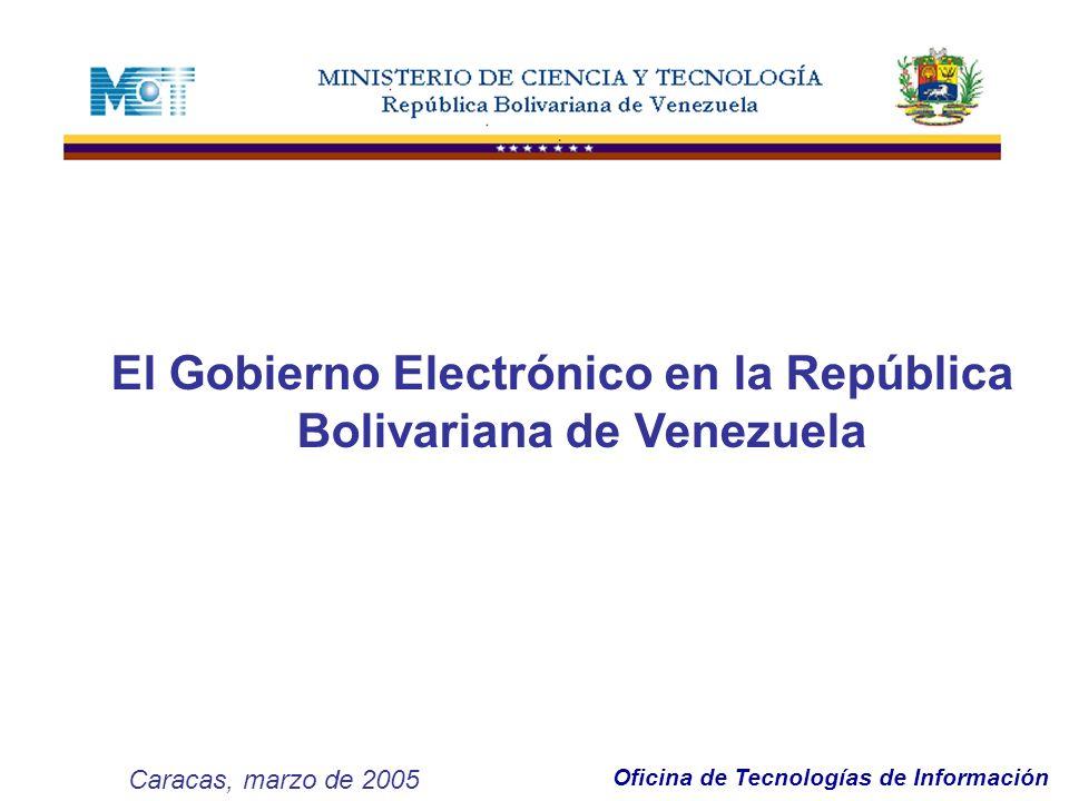 El Gobierno Electrónico en la República Bolivariana de Venezuela