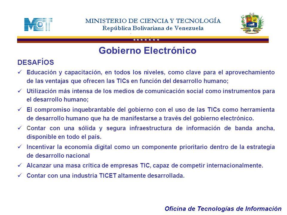 Gobierno Electrónico DESAFÍOS
