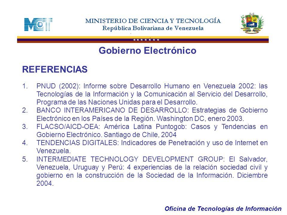 Gobierno Electrónico REFERENCIAS
