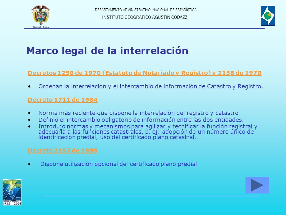 Marco legal de la interrelación