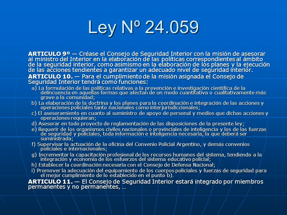 Ley Nº 24.059