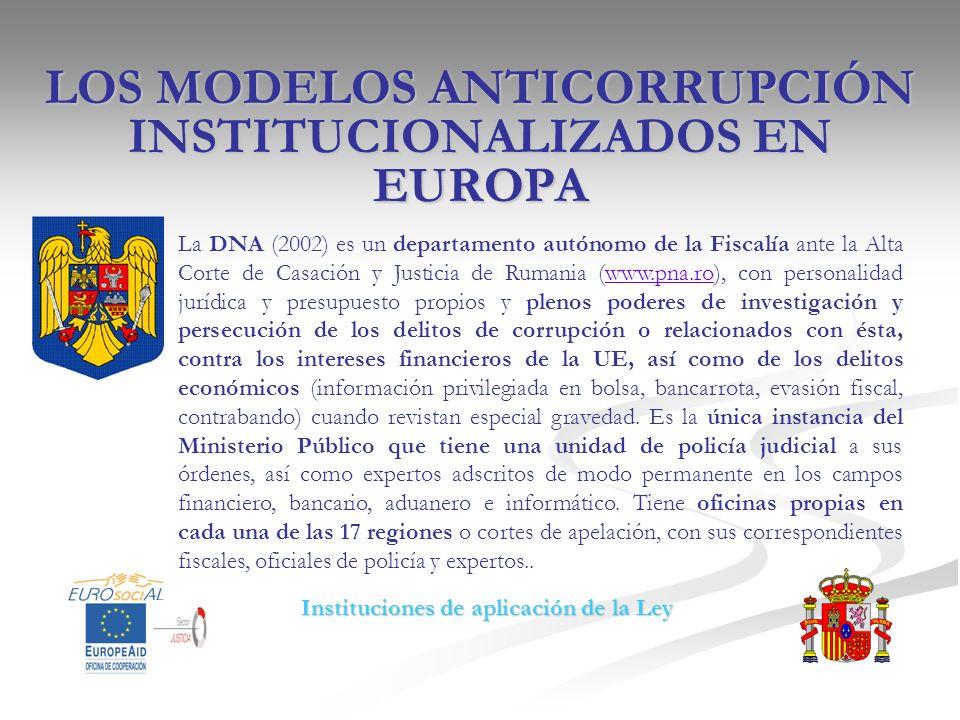 LOS MODELOS ANTICORRUPCIÓN INSTITUCIONALIZADOS EN EUROPA