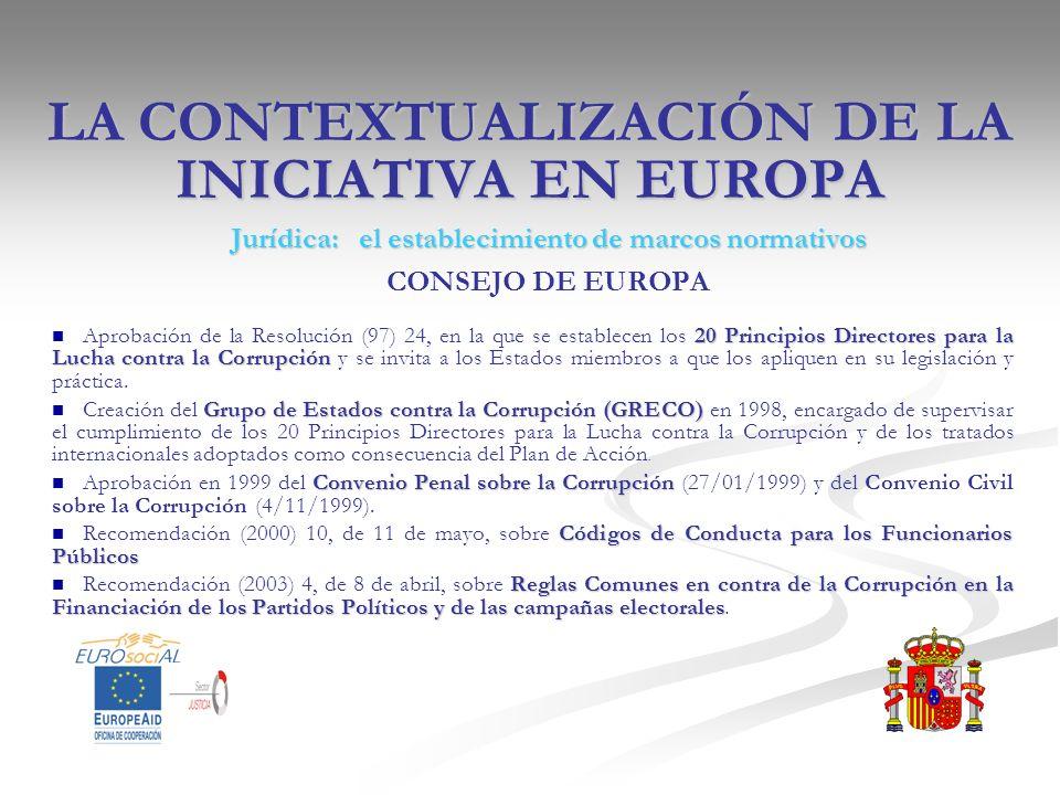 LA CONTEXTUALIZACIÓN DE LA INICIATIVA EN EUROPA