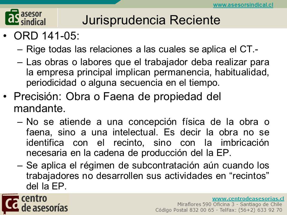 Jurisprudencia Reciente