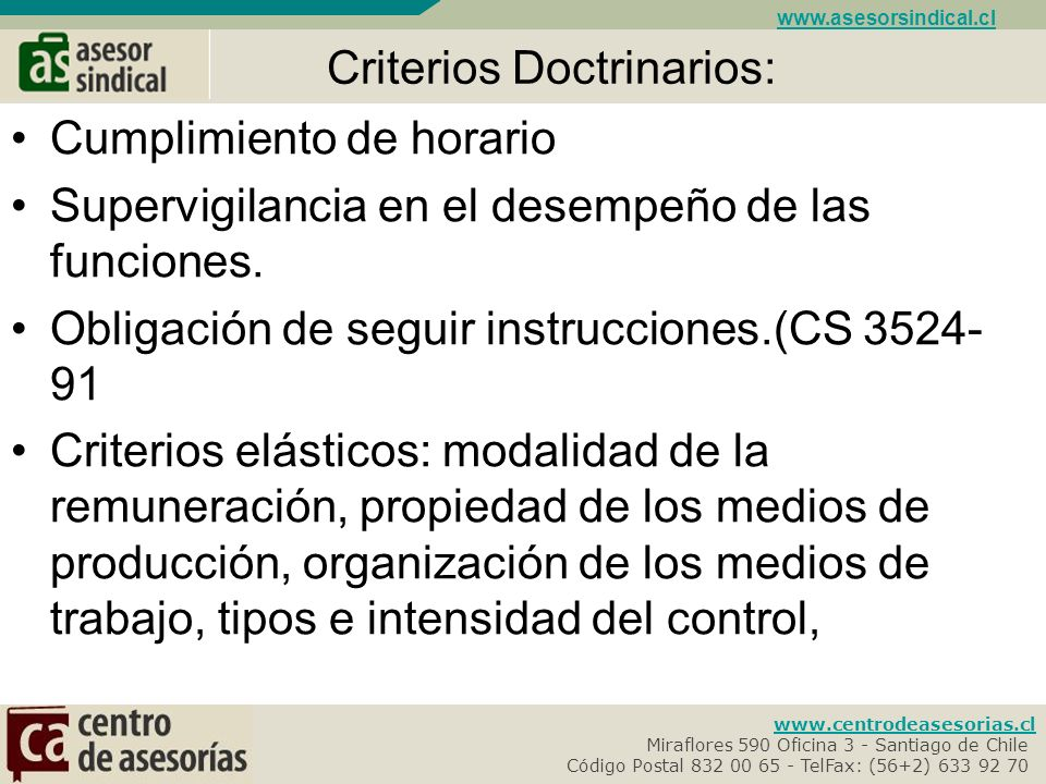 Criterios Doctrinarios: