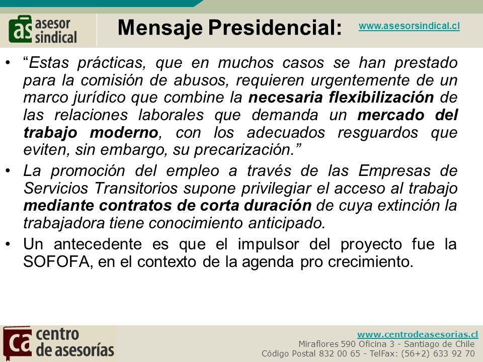 Mensaje Presidencial: