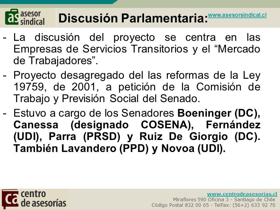 Discusión Parlamentaria: