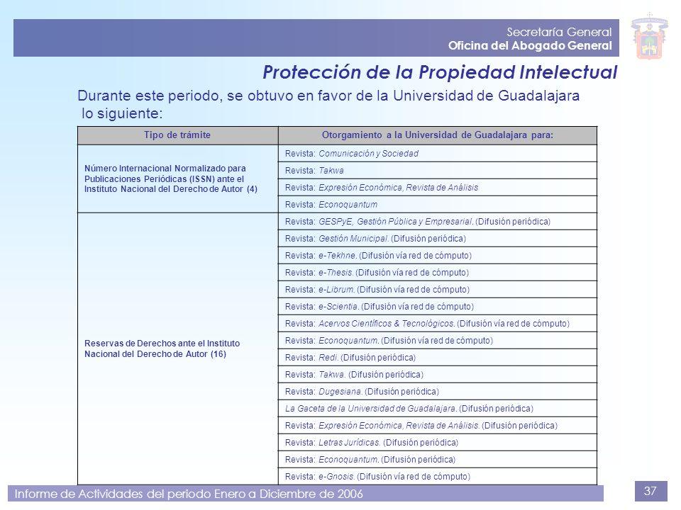 Secretaría General Oficina del Abogado General. Protección de la Propiedad Intelectual.