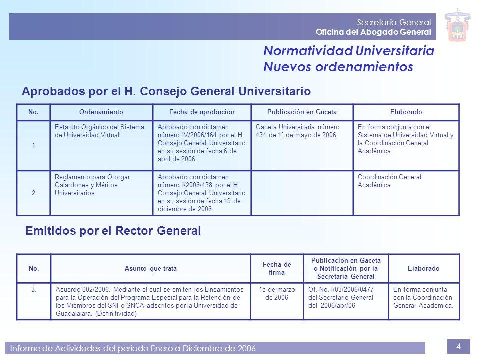 Publicación en Gaceta o Notificación por la Secretaría General