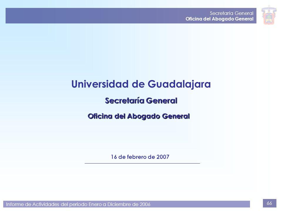 Universidad de Guadalajara Oficina del Abogado General