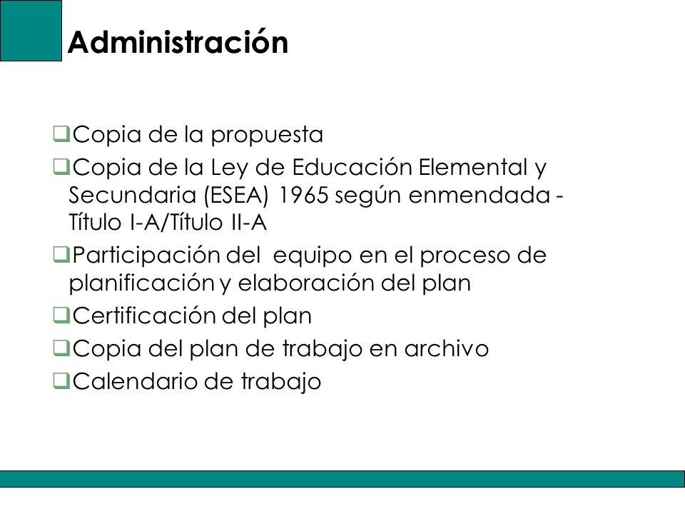 Administración Copia de la propuesta