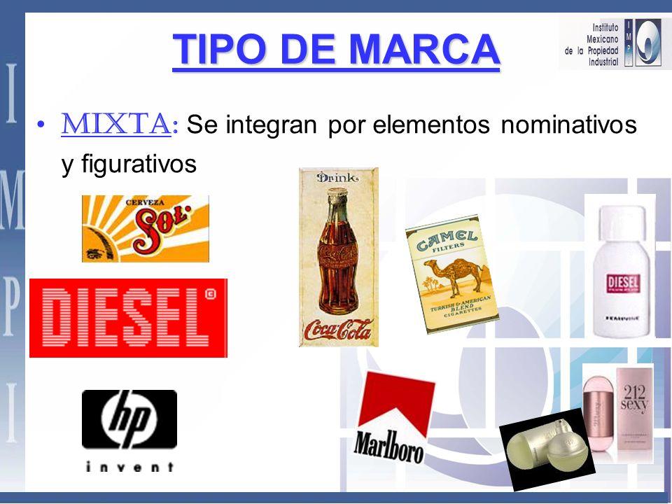 TIPO DE MARCA MIXTA: Se integran por elementos nominativos y figurativos