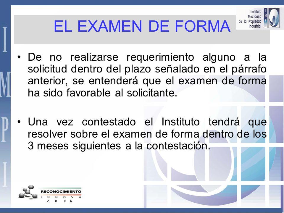 EL EXAMEN DE FORMA