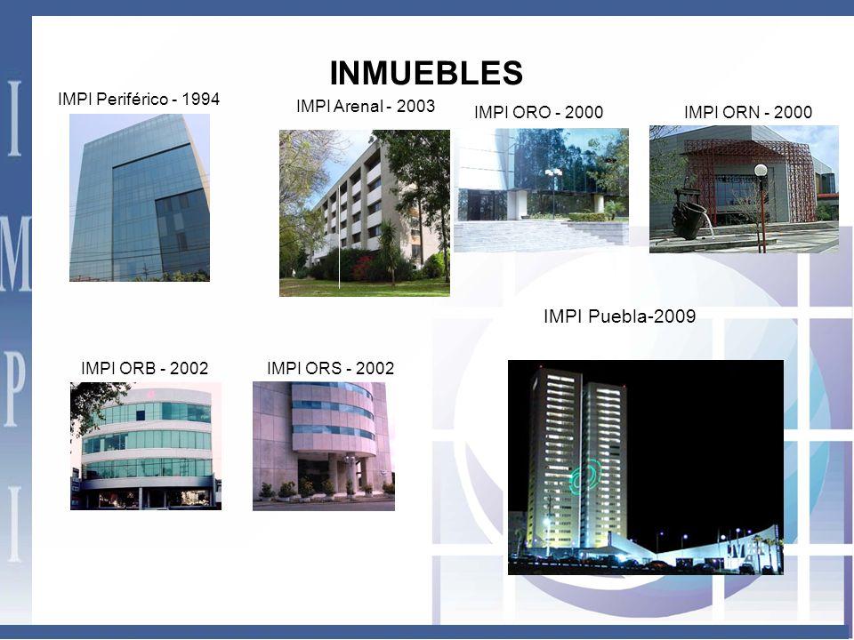 INMUEBLES IMPI Puebla-2009 IMPI Periférico - 1994 IMPI Arenal - 2003