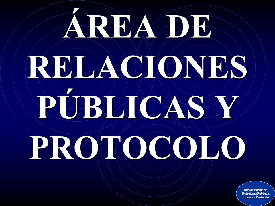 ÁREA DE RELACIONES PÚBLICAS Y PROTOCOLO