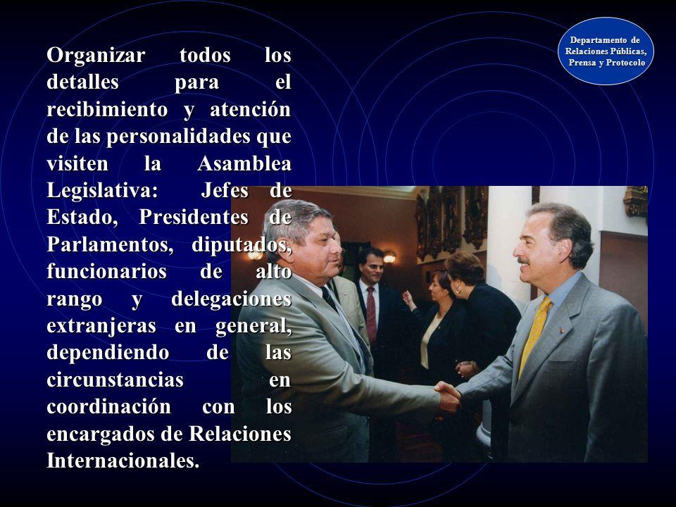 Departamento de Relaciones Públicas, Prensa y Protocolo.