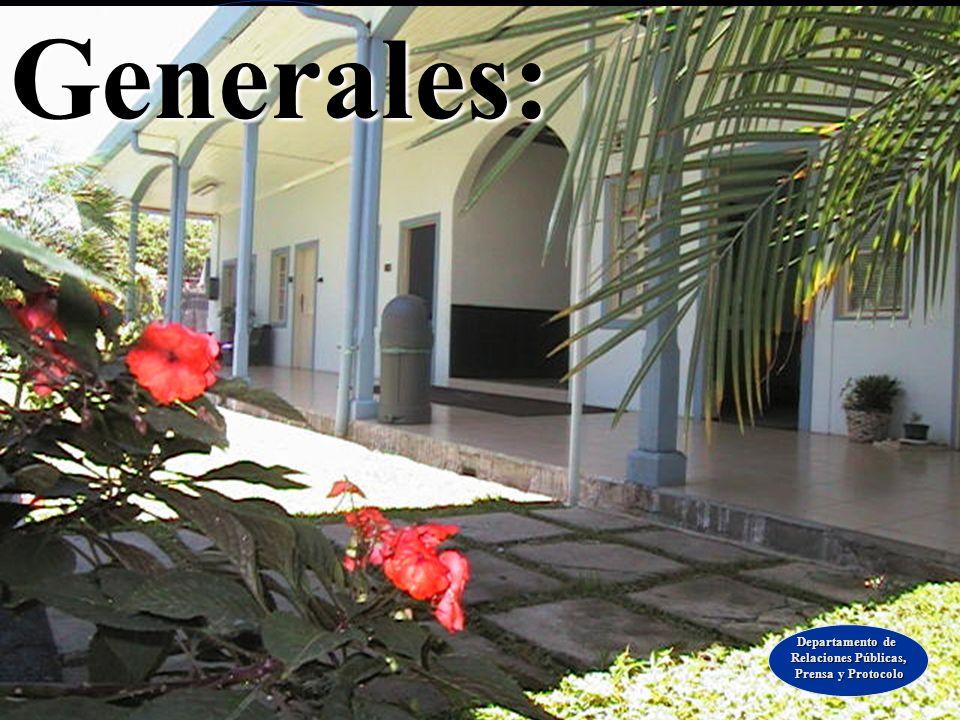 Generales: Departamento de Relaciones Públicas, Prensa y Protocolo
