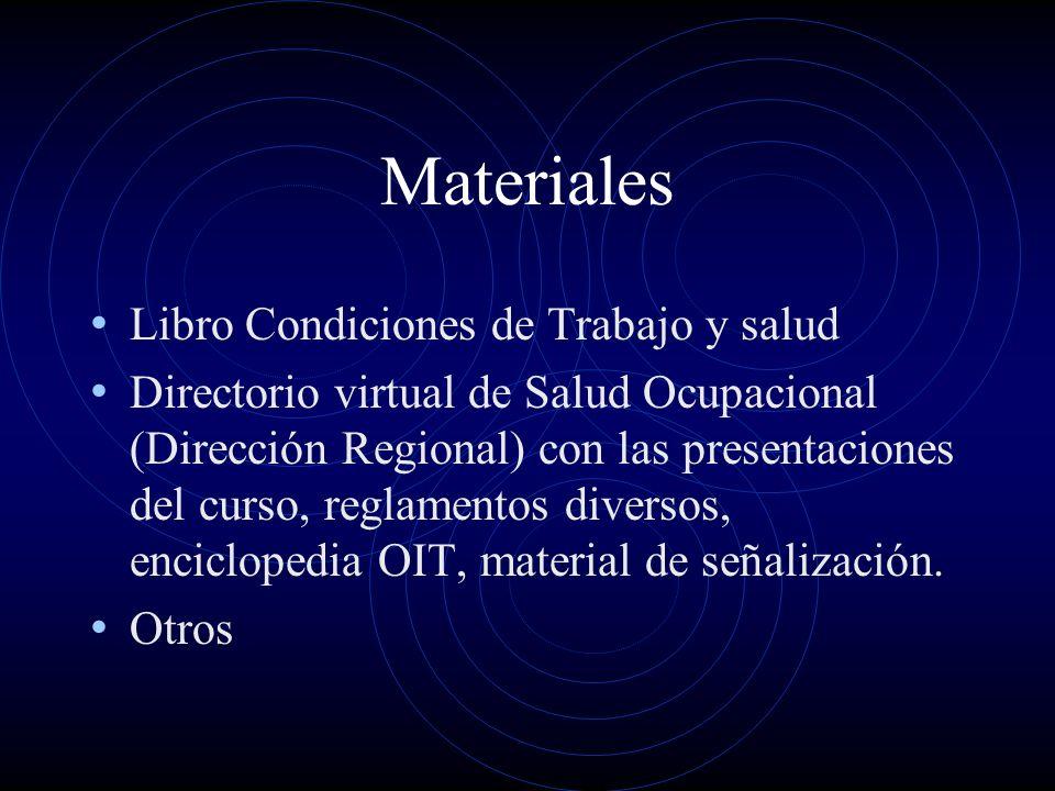 Materiales Libro Condiciones de Trabajo y salud