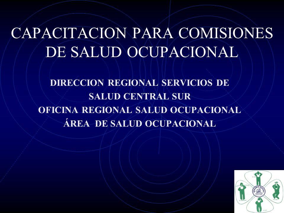 CAPACITACION PARA COMISIONES DE SALUD OCUPACIONAL