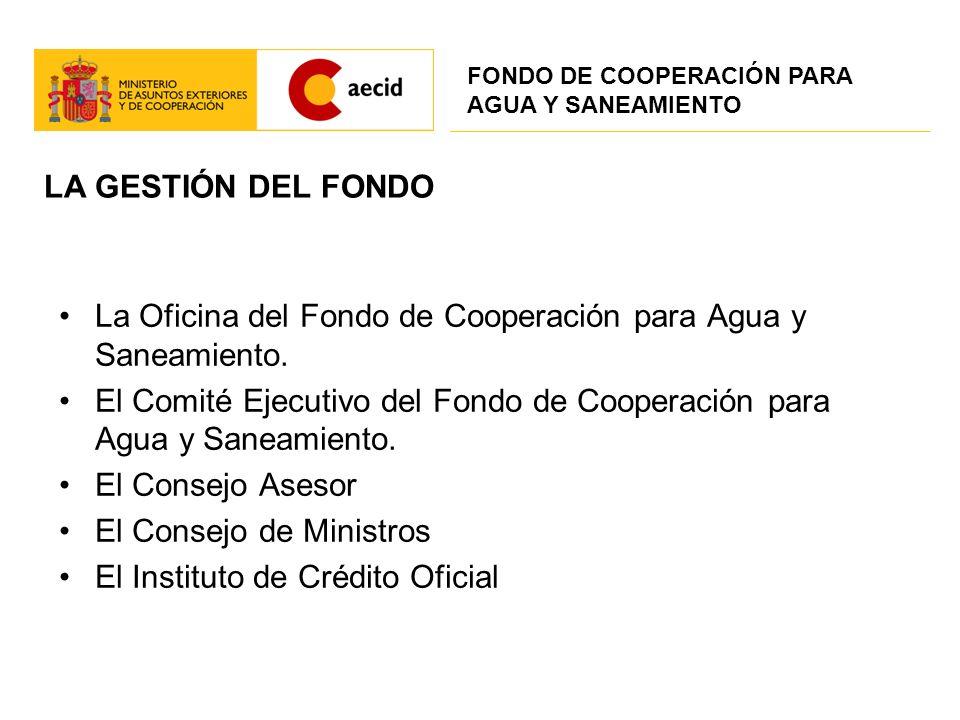 La Oficina del Fondo de Cooperación para Agua y Saneamiento.