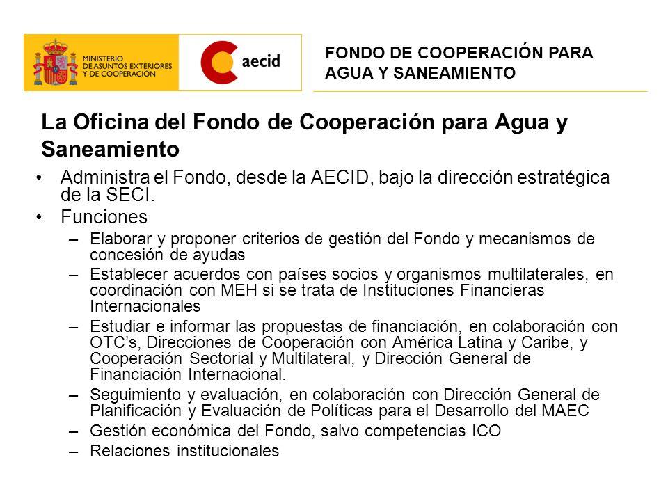 La Oficina del Fondo de Cooperación para Agua y Saneamiento