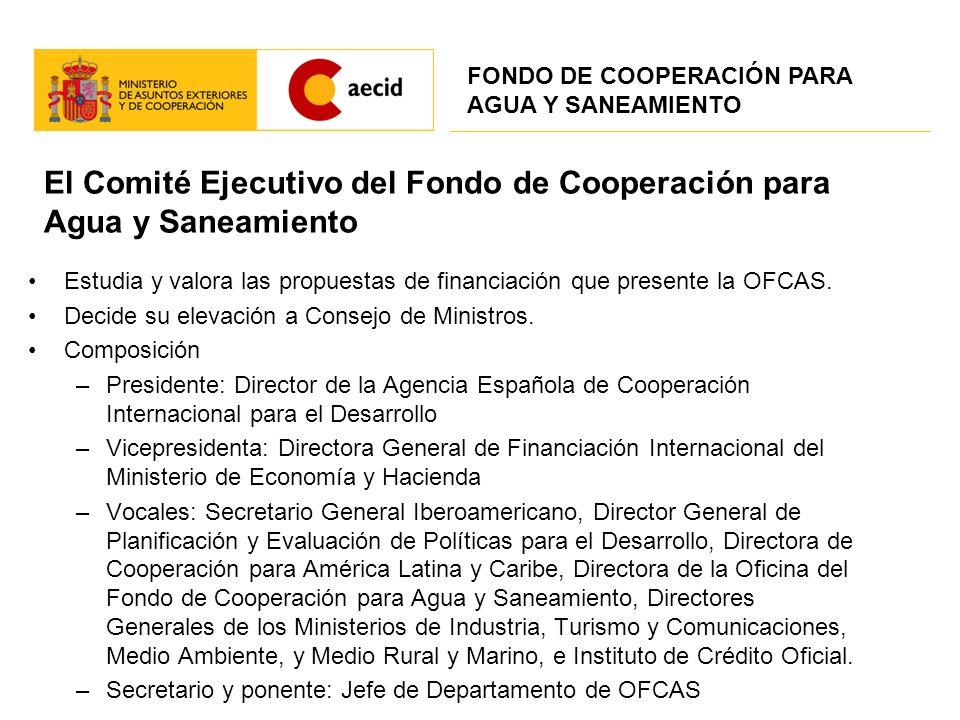 El Comité Ejecutivo del Fondo de Cooperación para Agua y Saneamiento