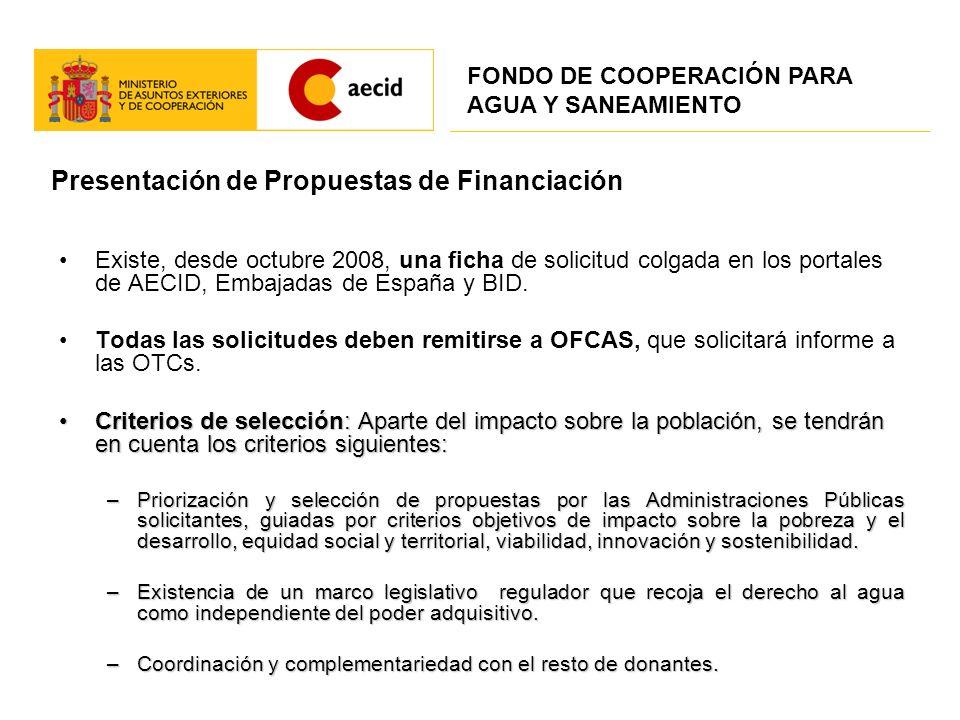 Presentación de Propuestas de Financiación