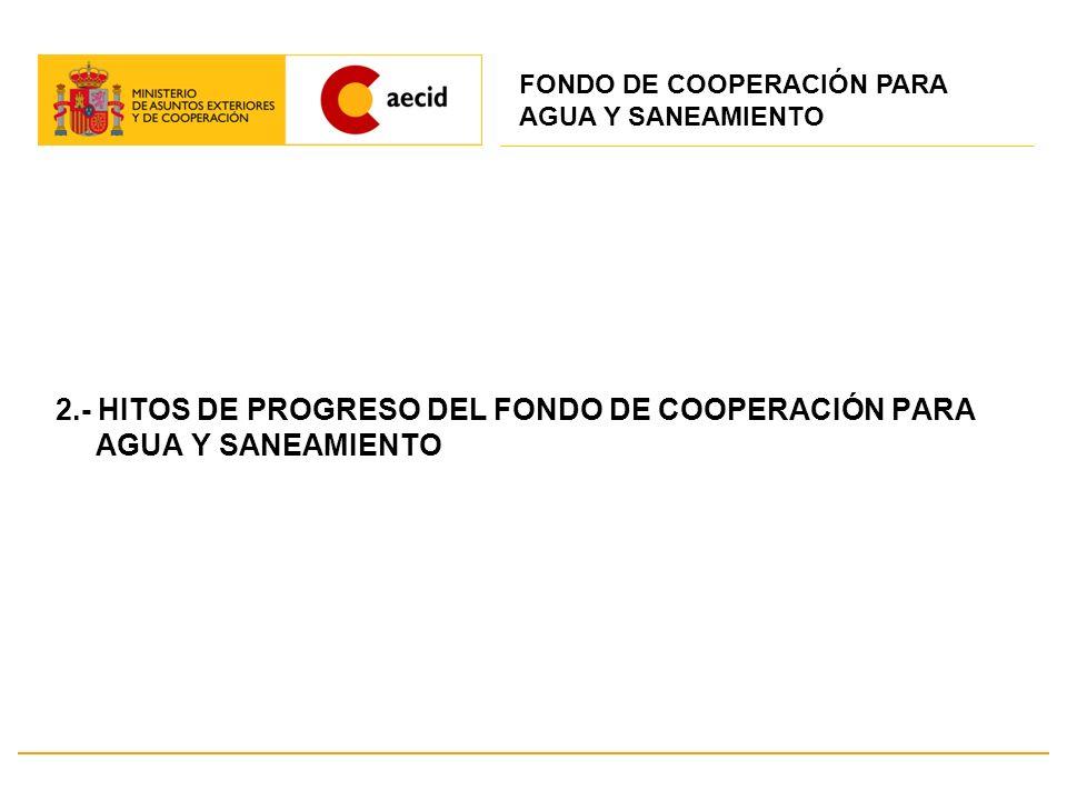 2.- HITOS DE PROGRESO DEL FONDO DE COOPERACIÓN PARA AGUA Y SANEAMIENTO