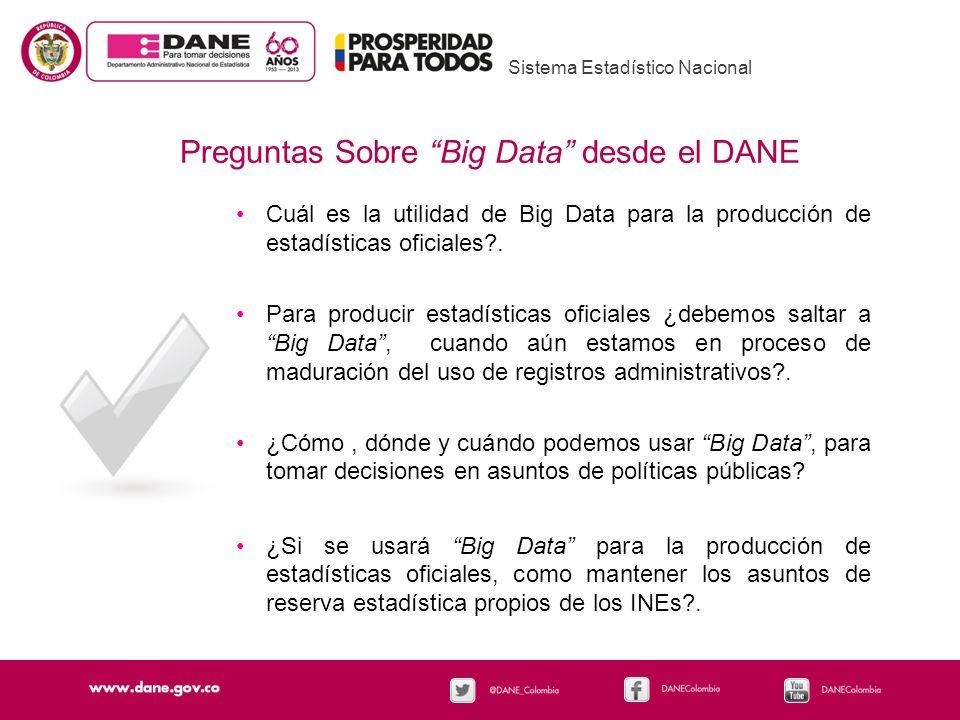 Preguntas Sobre Big Data desde el DANE