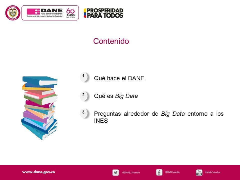 Contenido Qué hace el DANE Qué es Big Data