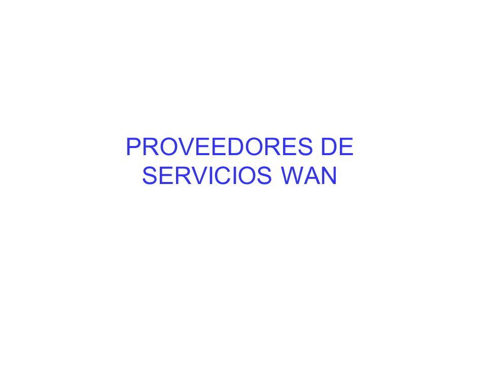 PROVEEDORES DE SERVICIOS WAN