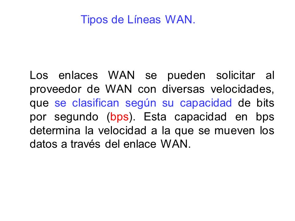Tipos de Líneas WAN.