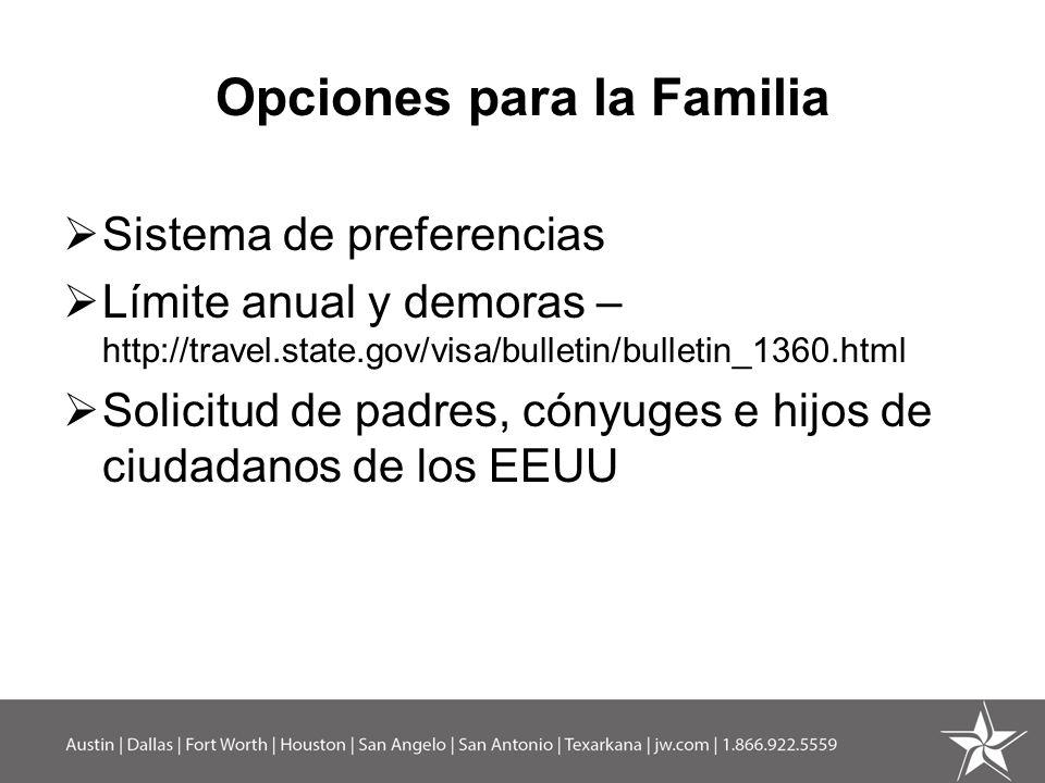 Opciones para la Familia