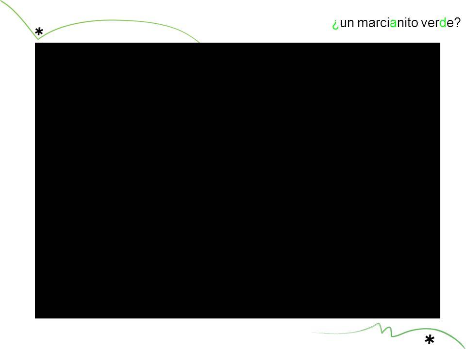 ¿un marcianito verde