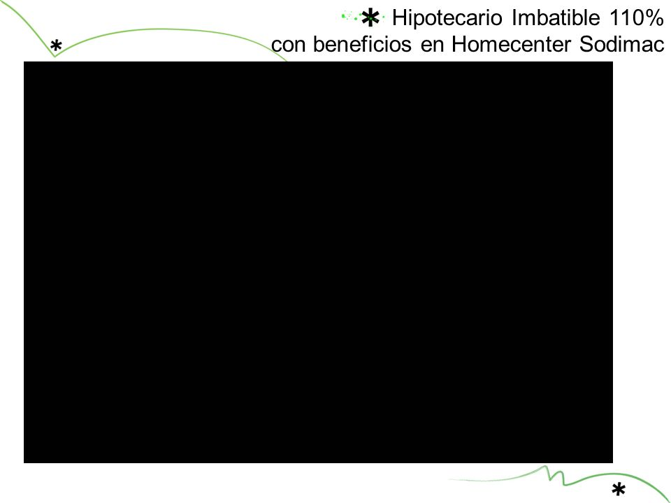 Hipotecario Imbatible 110% con beneficios en Homecenter Sodimac
