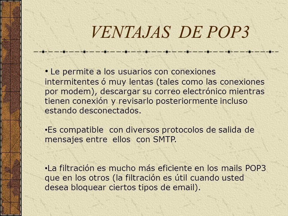 VENTAJAS DE POP3