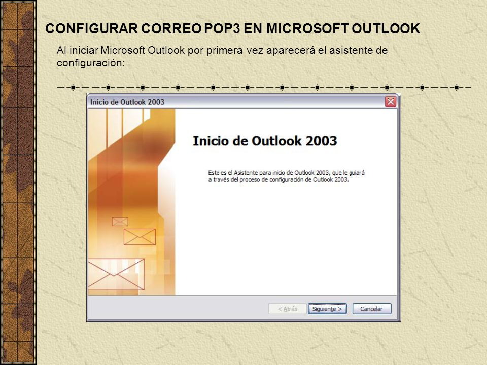 CONFIGURAR CORREO POP3 EN MICROSOFT OUTLOOK