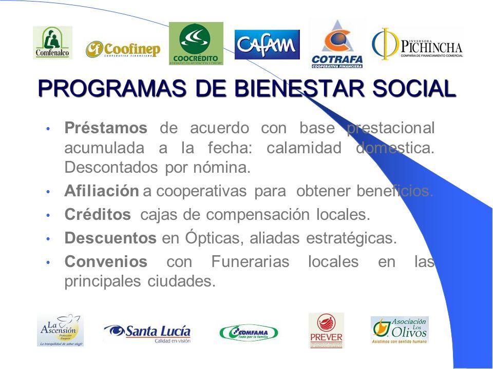 PROGRAMAS DE BIENESTAR SOCIAL