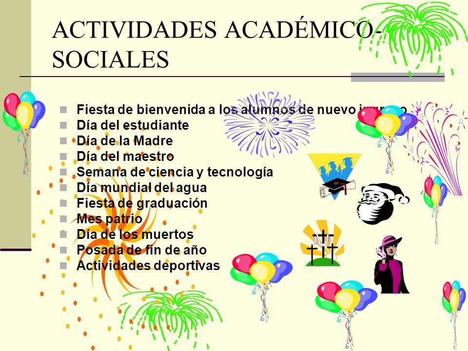 ACTIVIDADES ACADÉMICO-SOCIALES