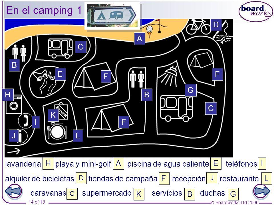 En el camping 1 D A C B E F F G H B C K I F J L