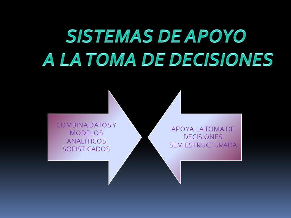 SISTEMAS DE APOYO A LA TOMA DE DECISIONES