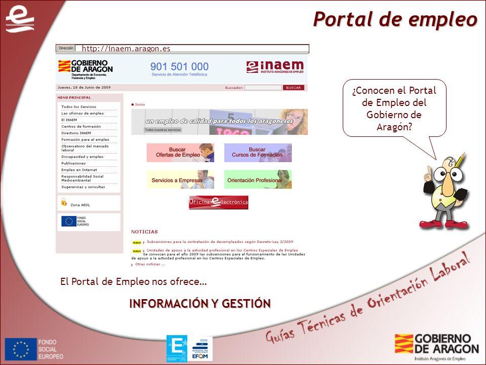 ¿Conocen el Portal de Empleo del Gobierno de Aragón